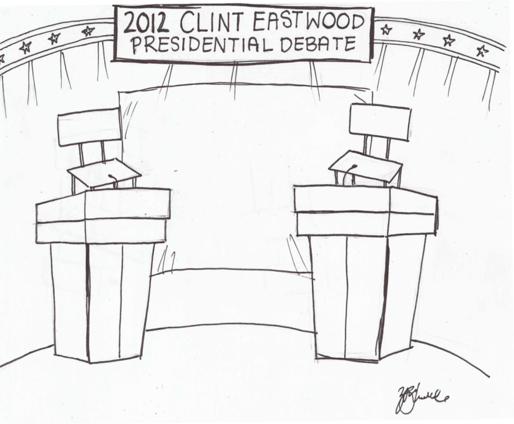 Clint+Eastwood+hosts+2012+Presidential+Debate+
