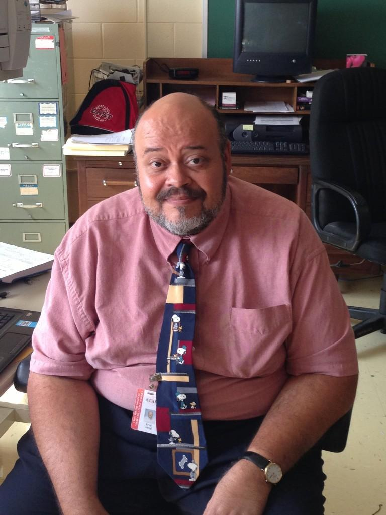 Mr. Fred Wood is new to the Physical Science Department at East but has taught for over 30 years.