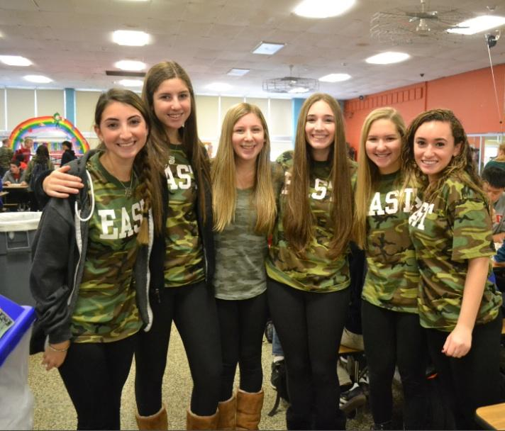 Andi Leff ('14)/ Eastside Photo Editor A group of juniors sport camo apparel.
