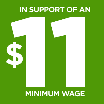 Image courtesy of mimimumwageraise.com  Today, November 5, New Jersey voters will decide whether or not to raise the minimum wage in New Jersey. A minimum wage of $11 would reflect inflation rates and would allow workers to afford basic living costs on a minimum-wage salary.