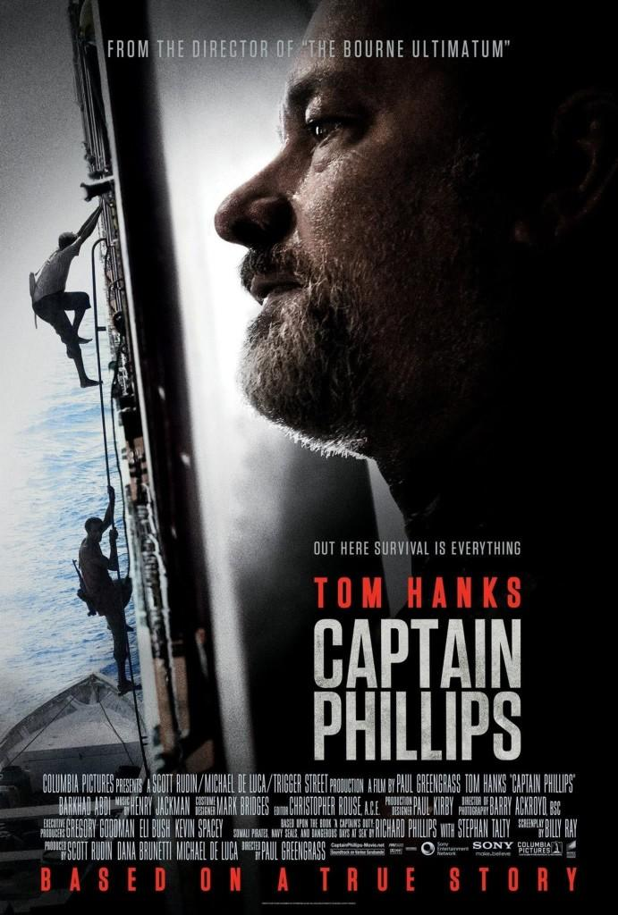 The Captain Phillips movie poster portrays the sense of fear that is felt throughout the film.
