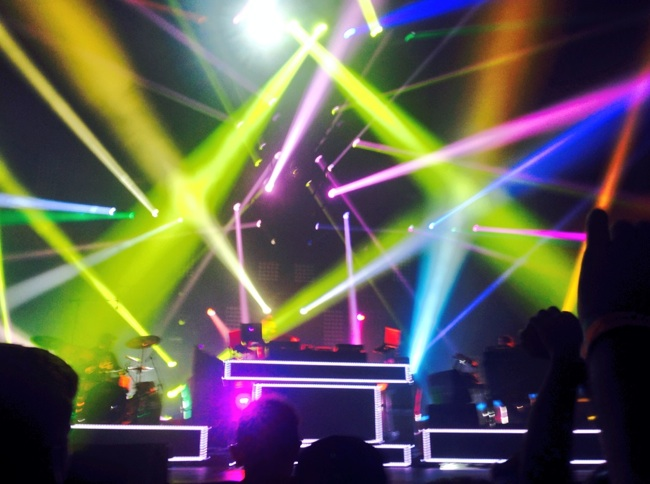 Pretty Lights on stage at the November 1st performance at Susquehana Bank Center in Camden, NJ.
