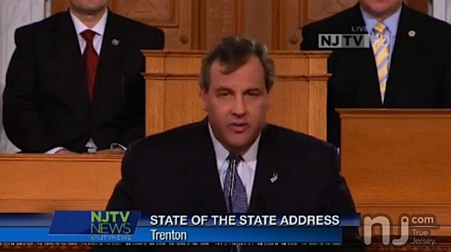 Governor+Christie+delivers+his+State+of+the+State+address.