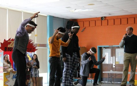 Students bang heads for spirit week points