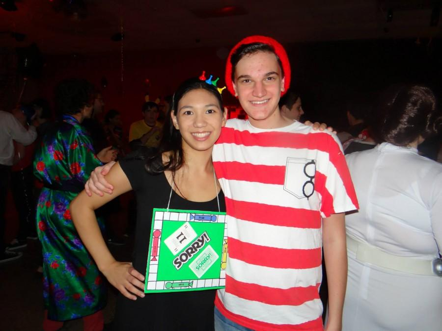 Students dress up in various costumes to celebrate the Halloween Dance.