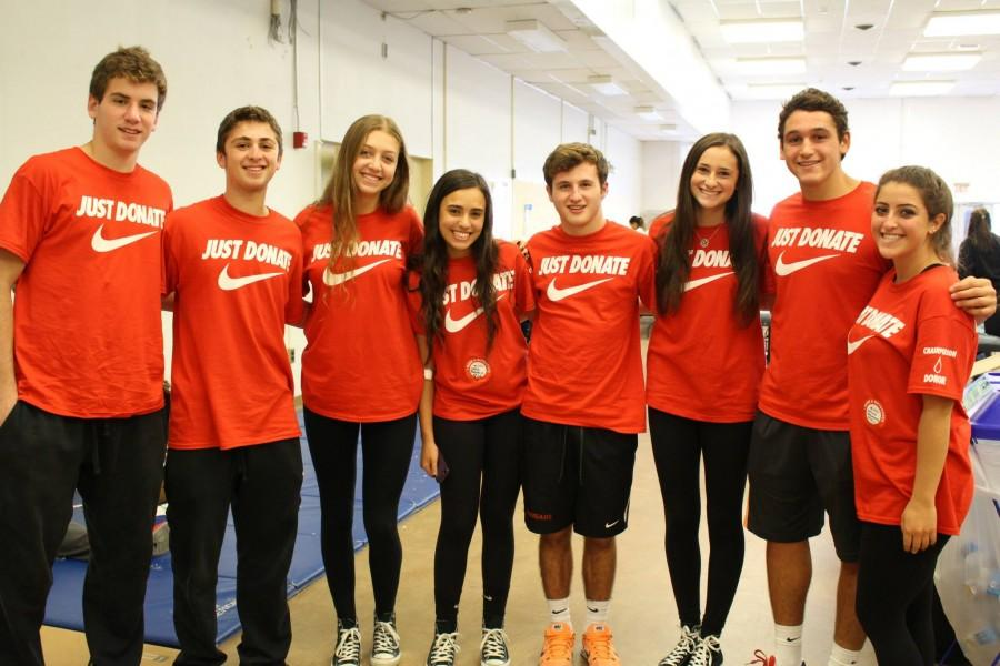 Students help run Fall Blood Drive all throughout the day.