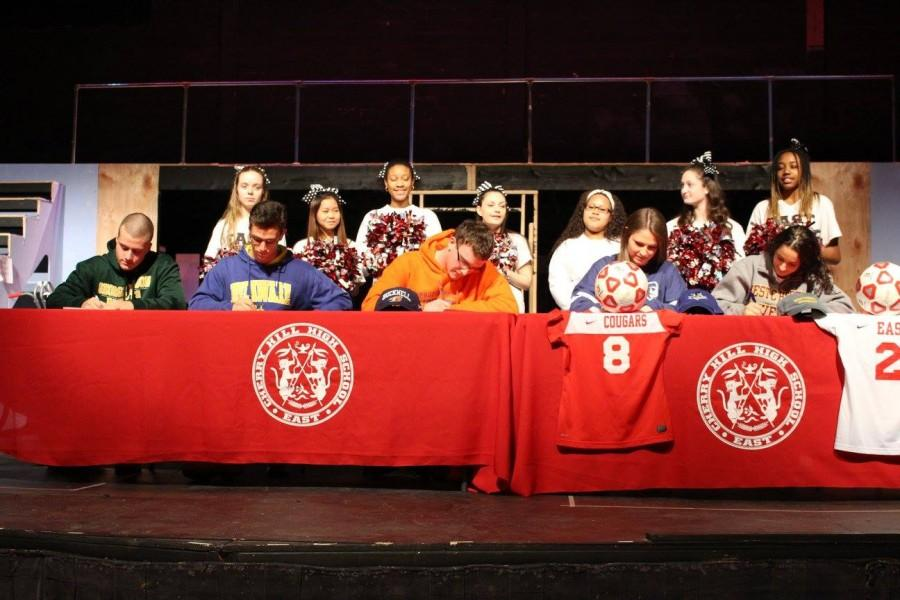 East's athletes sign to play their sport in college.