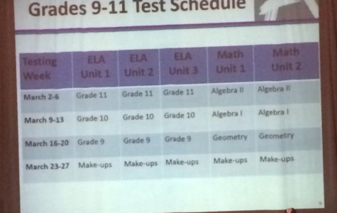 New schedule for PARCC testing will begin on March 2