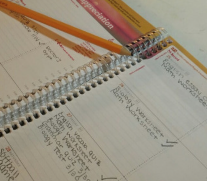 Planners help students stay organized with all their class assignments.