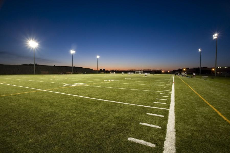 East+still+has+a+lot+of+work+to+put+into+its+turf+field.+The+addition+of+lights+would+mean+that+the+Cougars+will+finally+be+able+to+have+home+games+at+night.