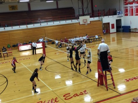 East Girls Volleyball Defeats Washington Township