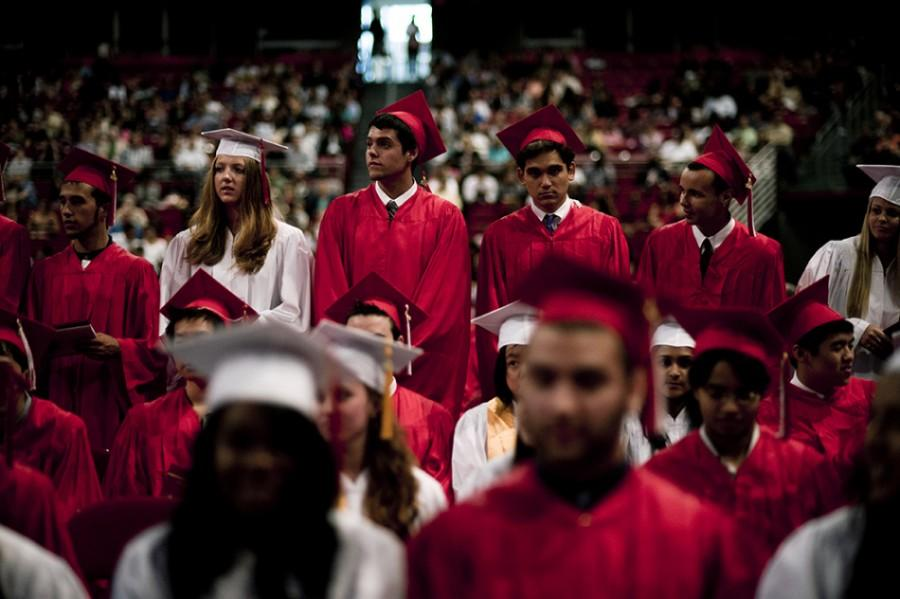 Teachers%2C+students+and+their+families+celebrated+their+graduation+from+Cherry+Hill+High+School+East+in+a+ceremony+in+the+Liacouras+Center+in+Philadelphia+Monday%2C+June+18th.