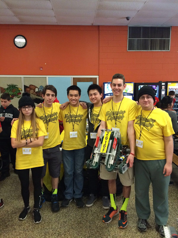 The Frightening Lightning team competes at the Vex Robotics State Championship.