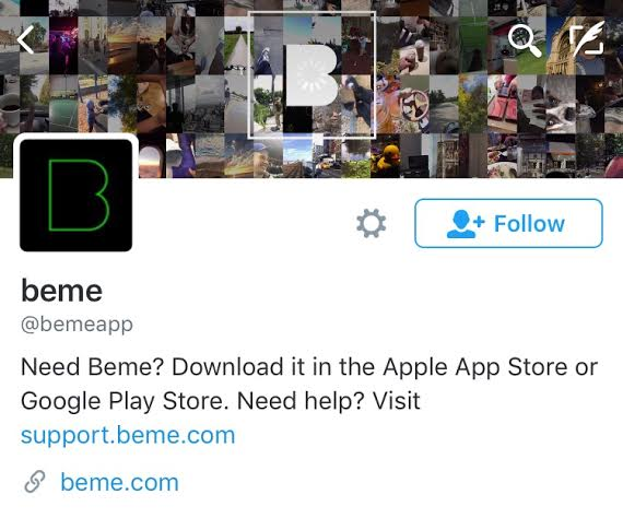The new revised app, Beme, has a twitter account.