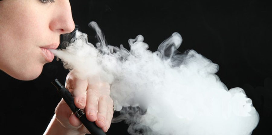 Vaping contains a nicotine liquid substance that is inhaled.