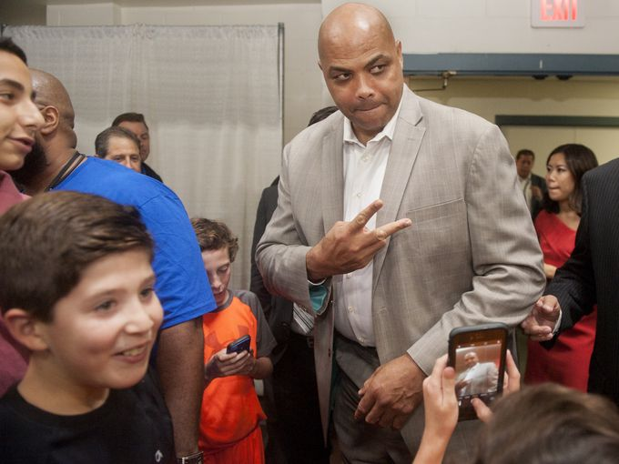 Former 76ers player, Charles Barkley attends the Katz JCC Sports Award Dinner.