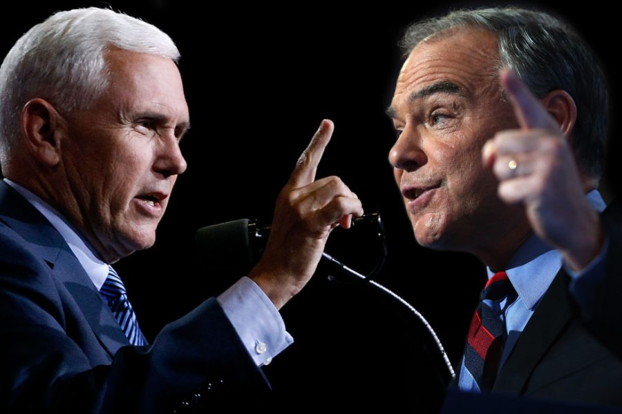 Senator+Tim+Kaine+and+Governor+Mike+Pence+take+to+the+stage+Tuesday+evening+to+defend+their+running+mates.+