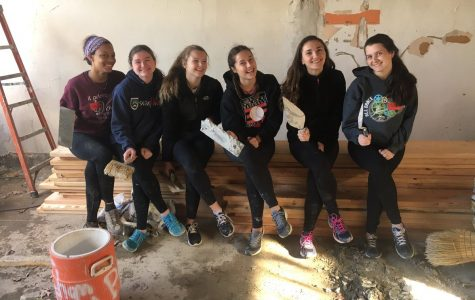 Cherry Hill East students participate in Habitat for Humanity.