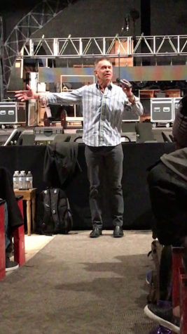 Brian Stokes Mitchell, original lead of Broadway Ragtime, educates East's Theatre students about the impact of the play