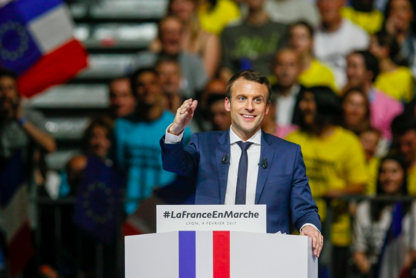 Emmanuel Macron defeats Marine Le Pen in the election.
