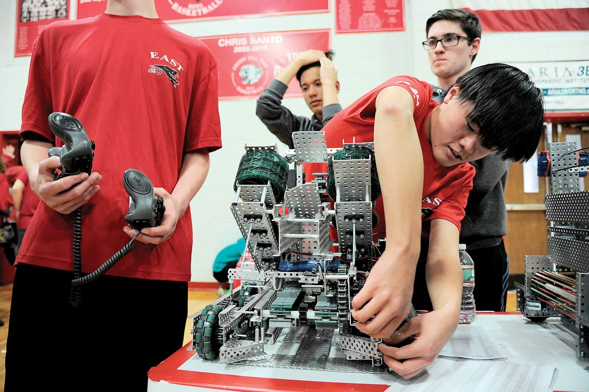 East students receive national recognition for their success in robotics