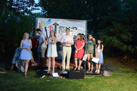 A group of Cherry Hill natives perform at the concert led by East alumni, Patricia Irwin ('15).