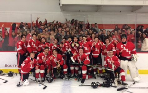 The East Ice Hockey team beats Holy Lenape Valley 4-3 in a tight game