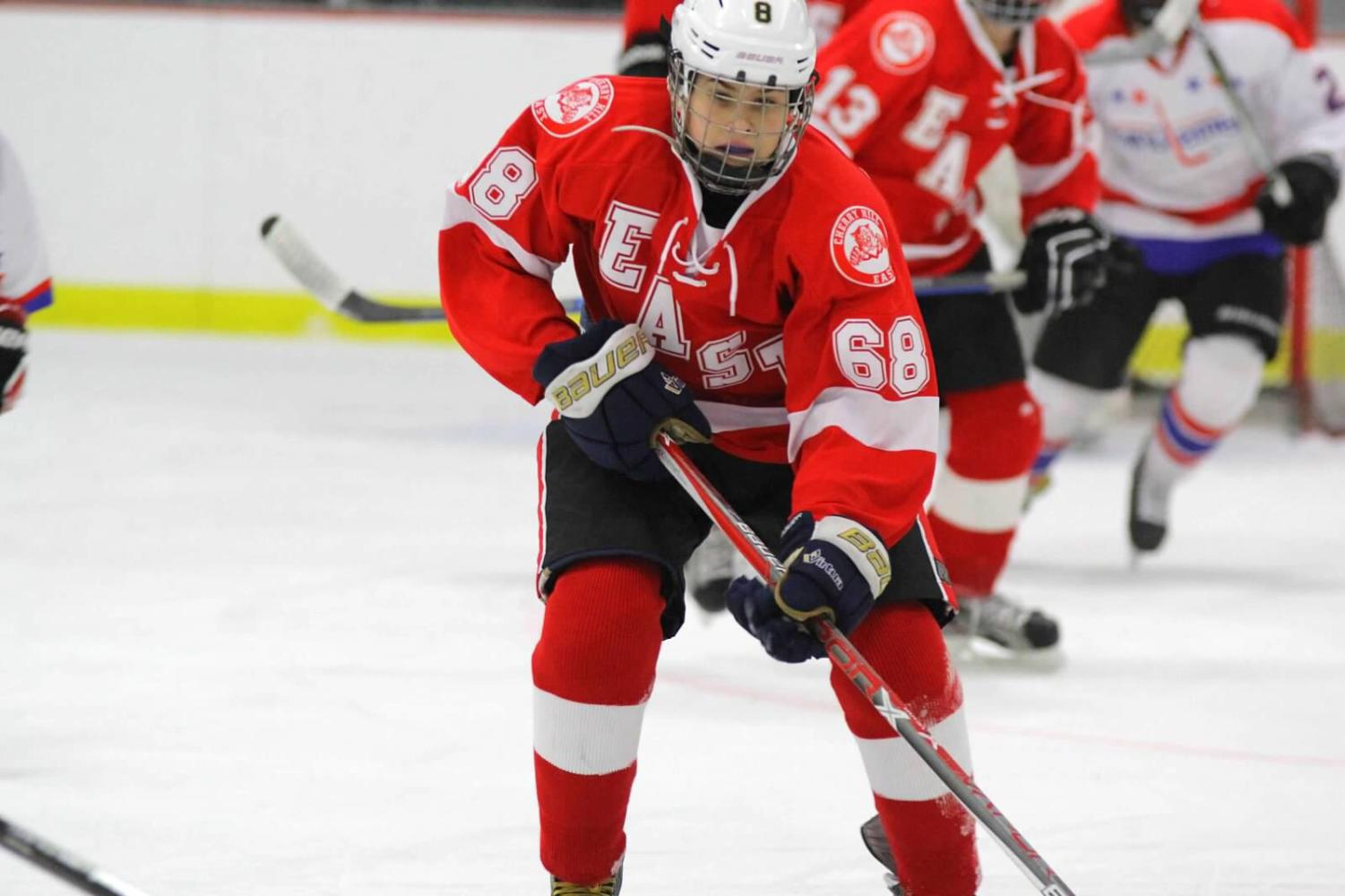 East Ice Hockey player Luke Steele ('20) at a recent game.