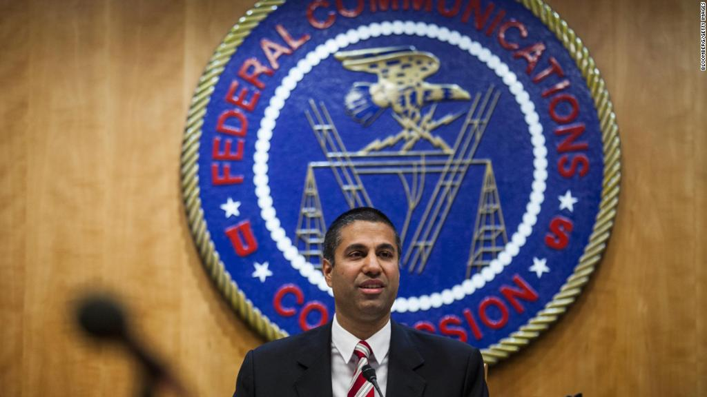 Ajit Pai, chairman of the Federal Communications Commission (FCC), the one who spearheaded the effort for the repeal.