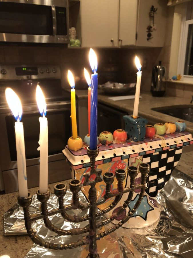 A+Hannukiah+on+Hanukkah