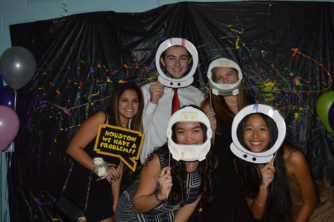 "Students travel through space at the ""Out of this World"" Freshman Dance"