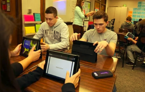Students increasingly use technology, such as Quizlet, to study for tests.