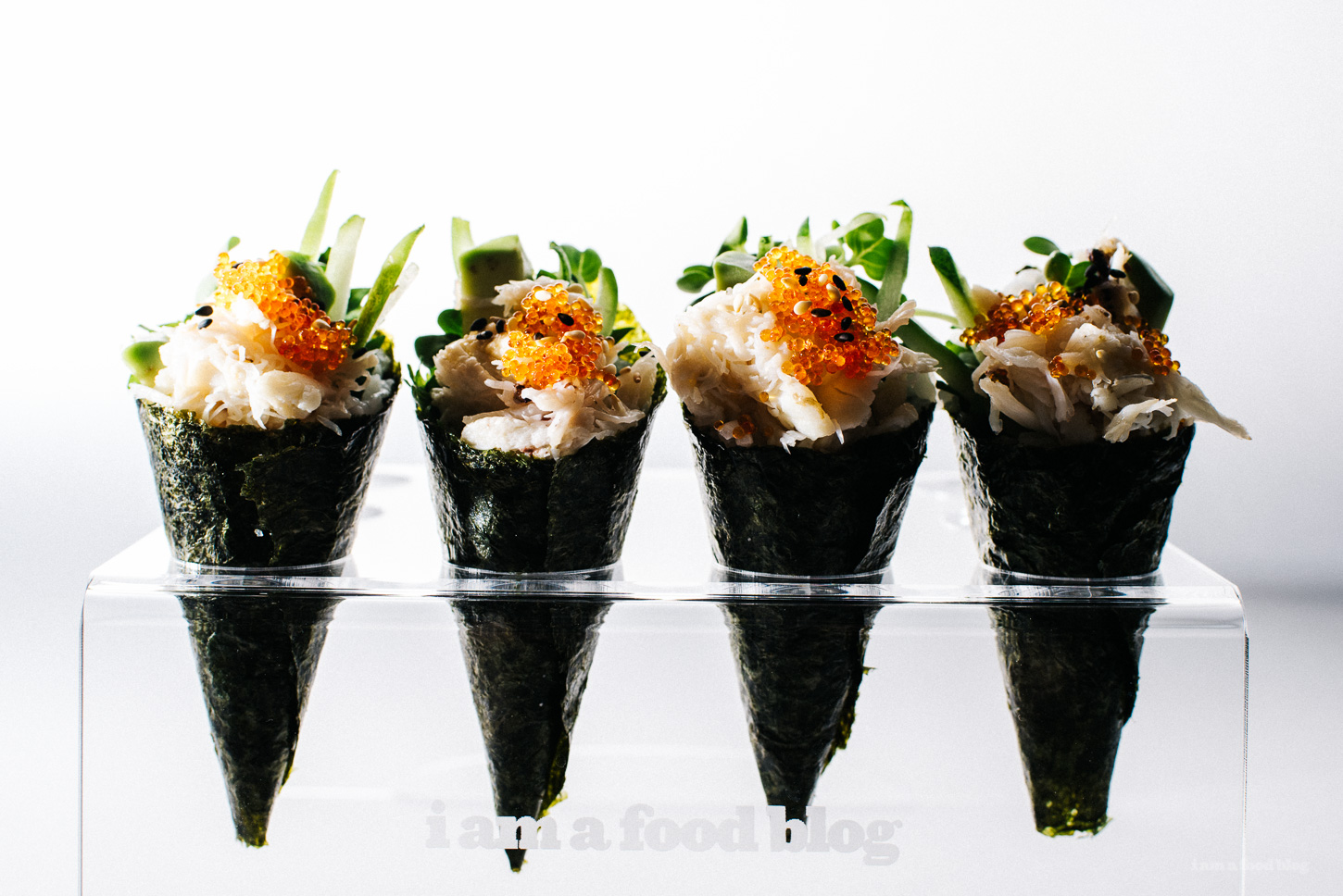 Seaweed cones are a new take on the famous dish