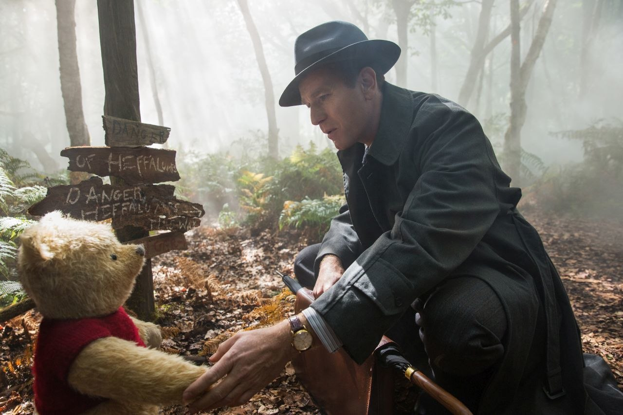 In Christopher Robin, Ewan McGregor's title character reconciles his adult stresses with the joy of his childhood adventures in the Hundred-Acre Woods. Image courtesy of Animation World Media.