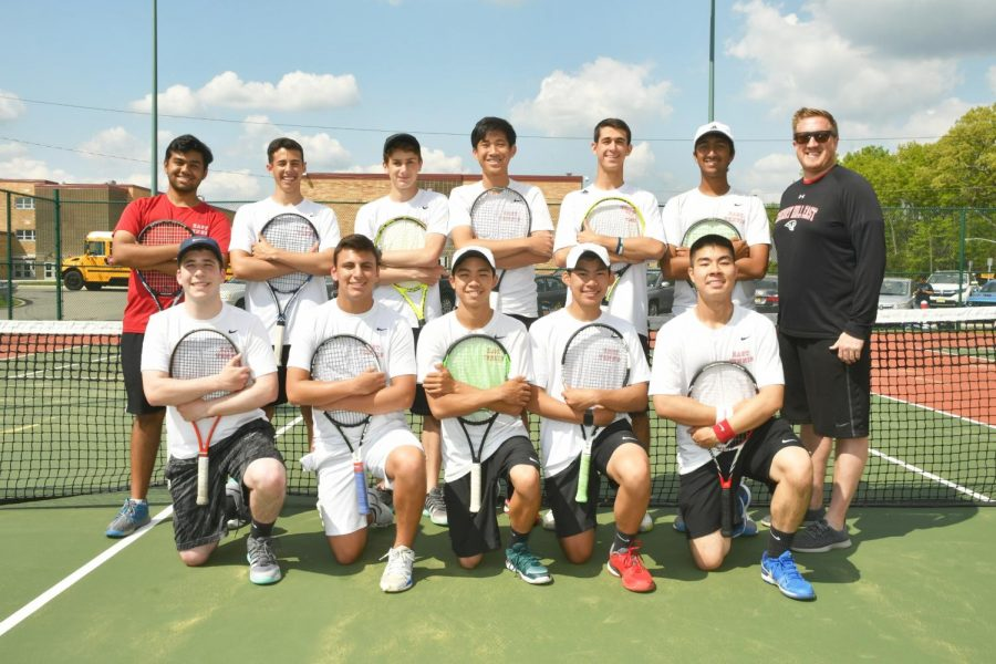 Boys tennis team holds its first tennis racket drive