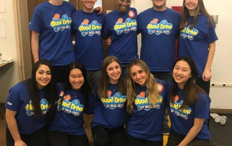 The spring blood drive chairpeople worked hard to make sure the event was a success.