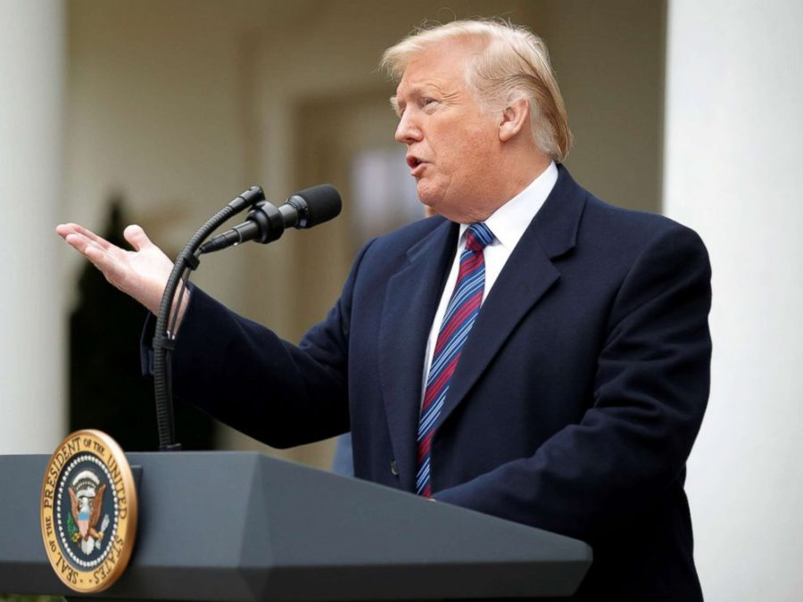 President Trump address the media after declaring a national emergency to resolve the ongoing border crisis.