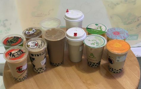 One dozen bubble teas, aka all of Sophia's wildest dreams on one table.