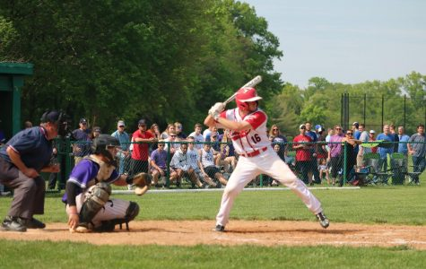Anthony Fiore ('19) at bat, facing Cherry Hill West.