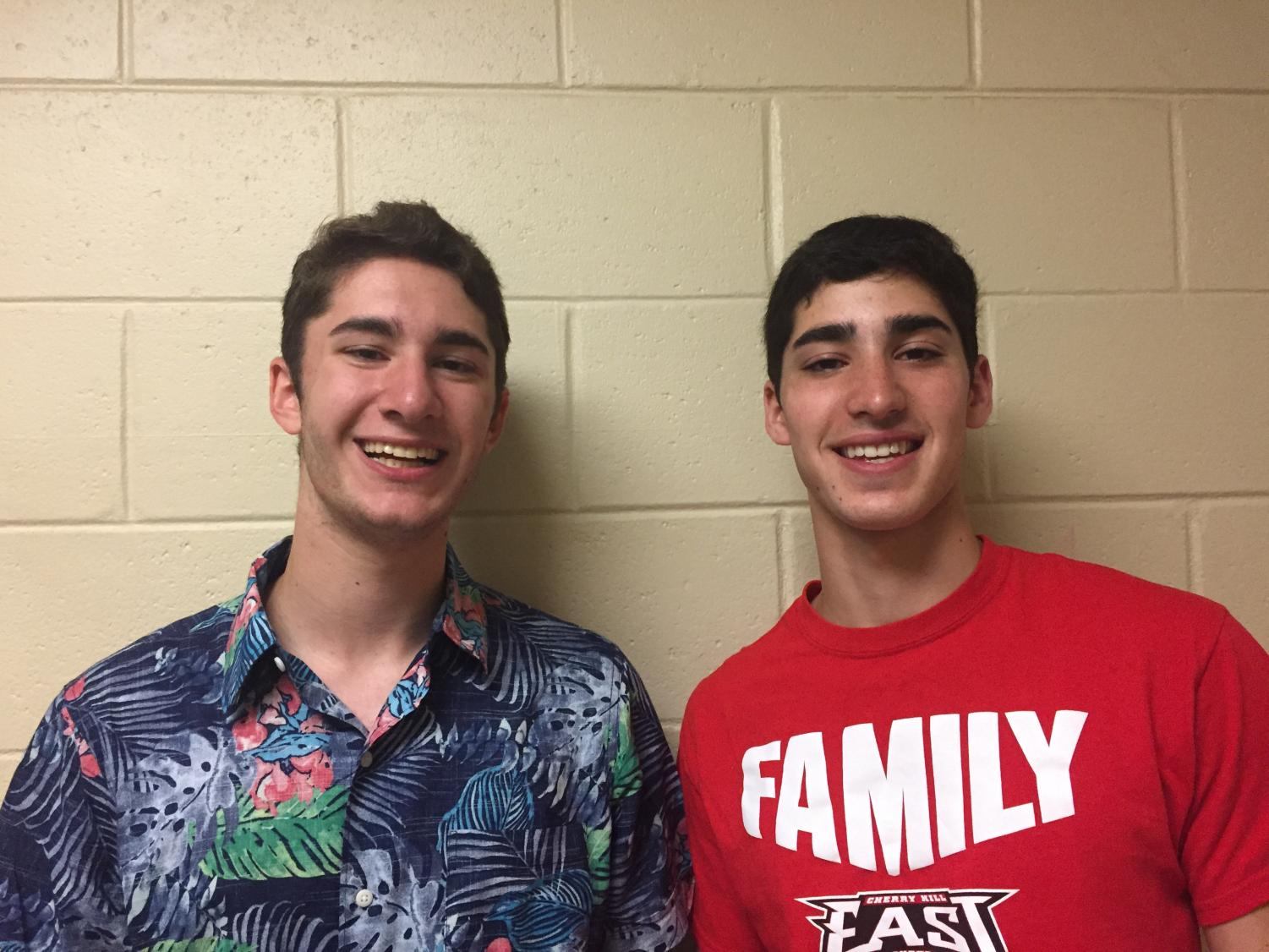 Jake Hoffman ('19) and Michael Hoffman ('19) share some facts about being twins.