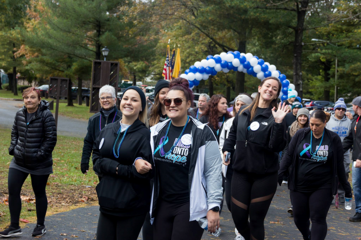 Many people participate in the Camden County Out of the Darkness Walk, to help support suicide.