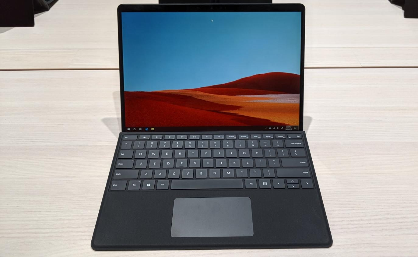 An overall view of the Surface Pro X.