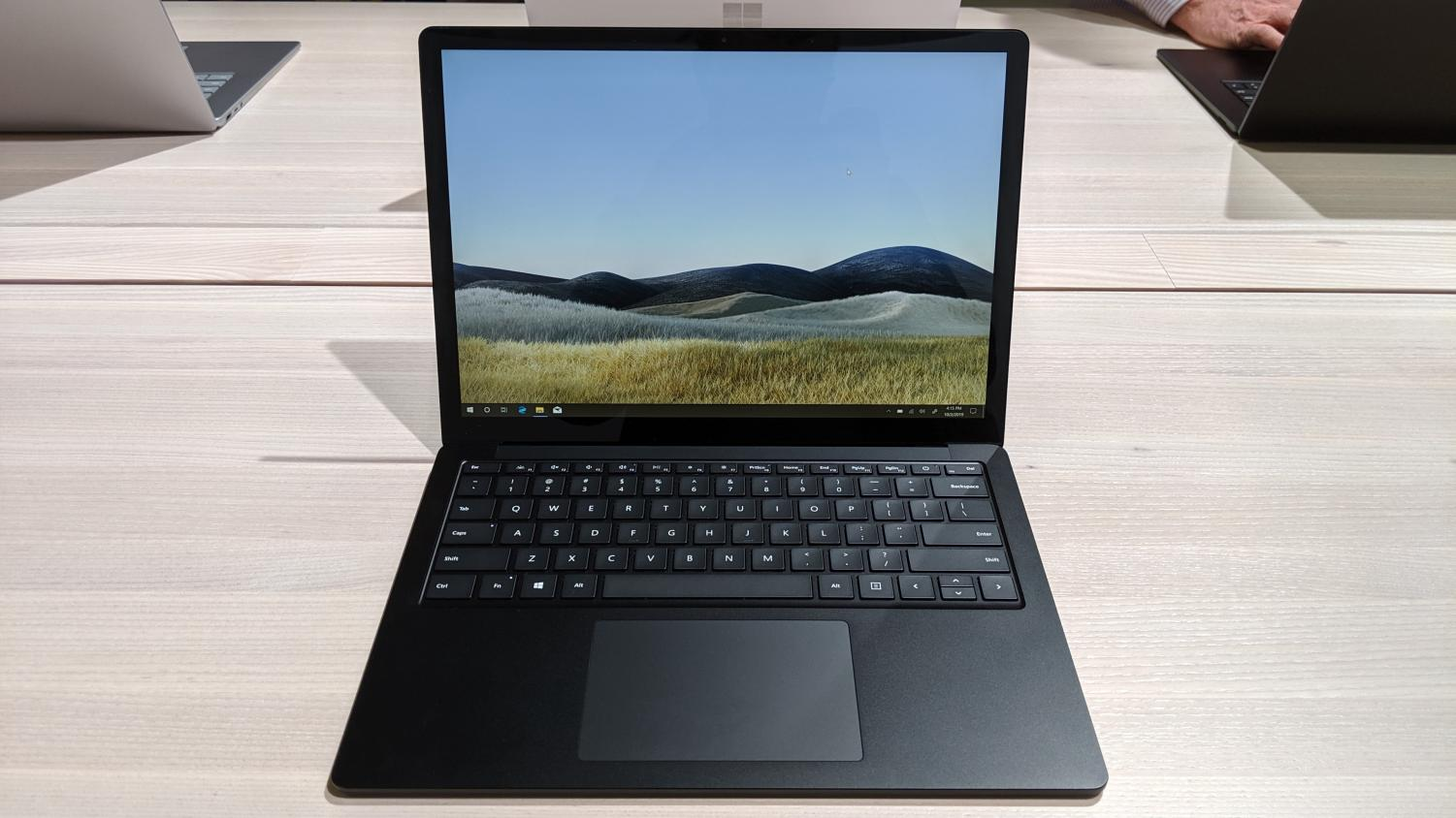 The new 13.5-inch Surface Laptop 3 in matte black.
