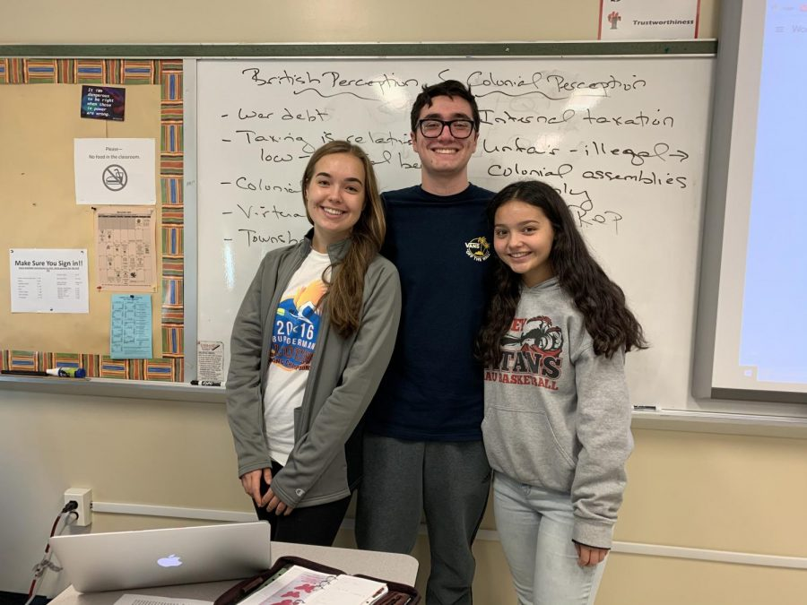 Caleb Brukman ('20), Katelyn Mendoza ('20) and Lauren Smith ('20) are the three presidents of Model UN.