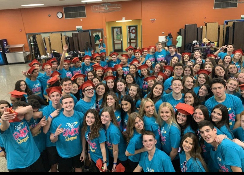 The Class of 2020 poses in their dance shirts.