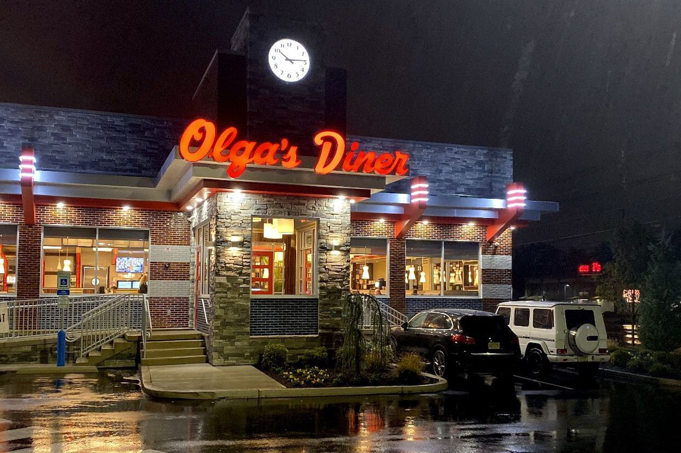 Olga's diner reopens on route 73.