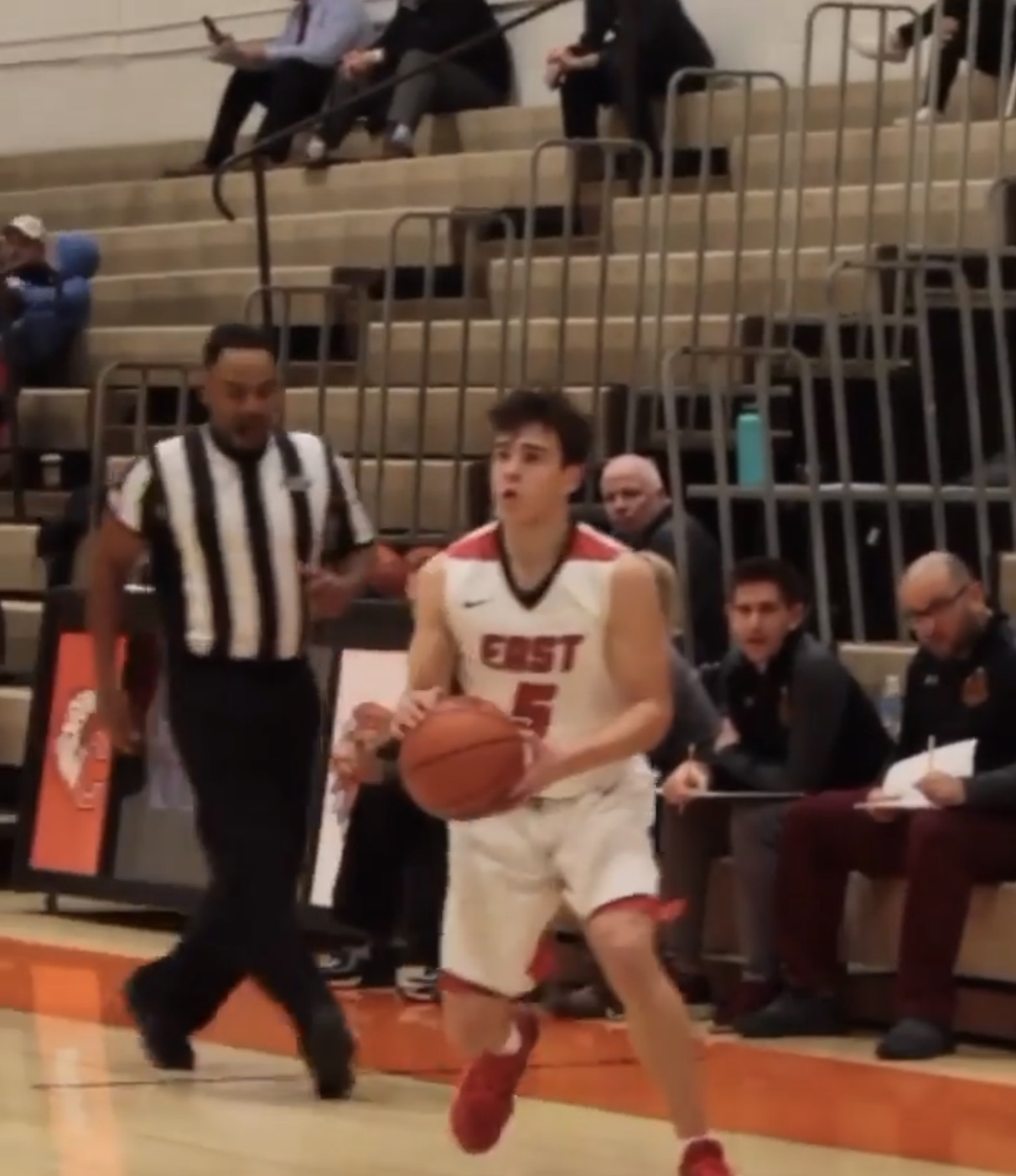 Jake Green ('22) prepares to score another three-pointer