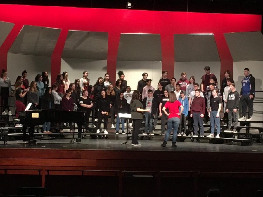 East's diverse vocal department works hard to solidify their repertoire for the winter concert on January 16.