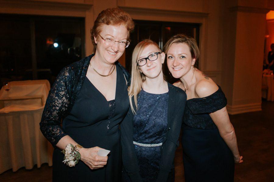 Marianne Ferland ('76), Angela Bruno ('22) and Suzanne Ferland ('03).