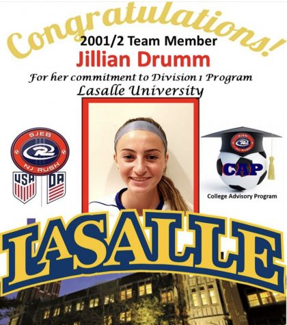 Jillian Drumm ('21) commits to La Salle University for soccer
